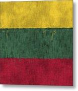 Flag Of Lithuania Metal Print