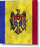 Flag Of Moldavia Metal Print
