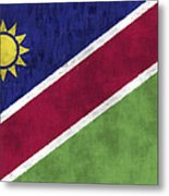 Flag Of Namibia Metal Print