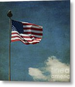 Flag - Still Standing Proud - Luther Fine Art Metal Print