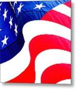 Flag Unfurl Metal Print