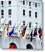 Flags At The Greenbrier Metal Print