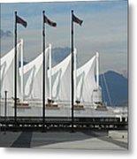 Flags At The Sails  Metal Print