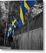 Flags Of Sweden Metal Print