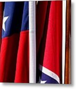 Flags Of The North And South Metal Print