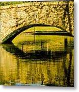 flagstone walking bridge at Freedom Park in Charlotte North Car Metal Print