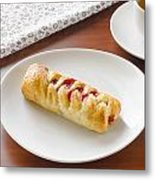 Flaky Pastry With Cherry Jam Metal Print