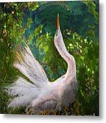 Flamboyant Egret Metal Print