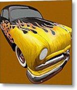 Flame Car Metal Print