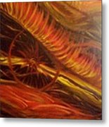 Flame Run Metal Print by Adriana Garces