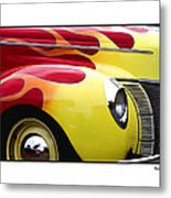 Flamed Ford Metal Print