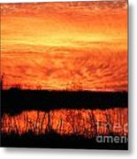 Flamed Sunset Metal Print