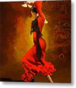 Flamenco Dancer 0013 Metal Print