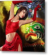 Flamenco Dancer 010 Metal Print