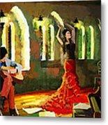 Flamenco Dancer 017 Metal Print