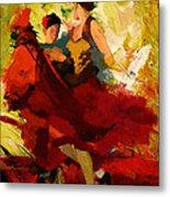 Flamenco Dancer 019 Metal Print