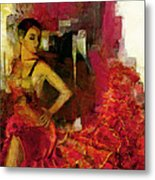 Flamenco Dancer 024 Metal Print