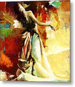Flamenco Dancer 032 Metal Print by Catf