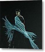 Flamenco Dancer In Shawl Metal Print by Martin Howard