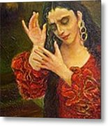 Flamenfo Girl 2 Metal Print