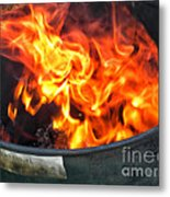 Flames 03 From The Firemen Series Metal Print