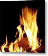 Flames In The Dark Metal Print