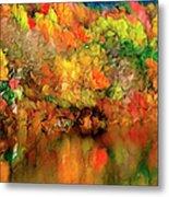 Flaming Autumn Abstract Metal Print