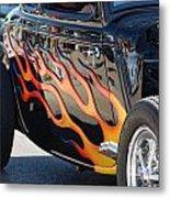 Flaming Classic Metal Print