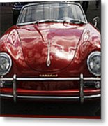 Flaming Red Porsche Metal Print