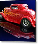 Flaming Roadster Metal Print by Gill Billington