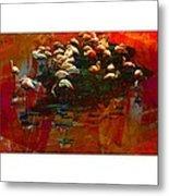 Flamingo Colours Metal Print
