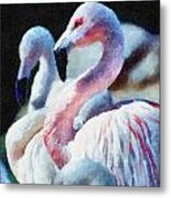 Flamingo Metal Print by Lester Phipps