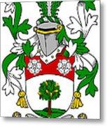 Flannery Coat Of Arms Irish Metal Print