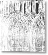 Flash Of Light On Glass Metal Print