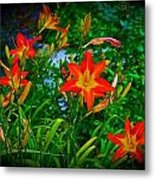 Flashes Of Garden Fire Metal Print