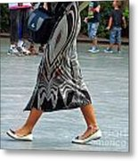 Flat Shoes And Leg Bracelet Metal Print