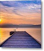 Flathead Lake Sunrise Metal Print