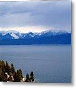 Flathead Lake Winter Metal Print