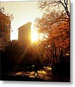 Flatiron Building Sunset - Madison Square Park Metal Print