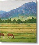 Flatirons From Jay Road Horse Farm Metal Print