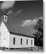 Flatt Rock Church Bw Metal Print
