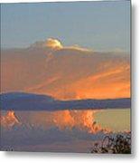 Flattop Sunset Cloud Metal Print
