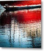 Red Boat Serenity Metal Print