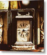 Flea Market Series - Clock Metal Print by Marco Oliveira