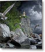 Fleeing The Coming Storm Metal Print