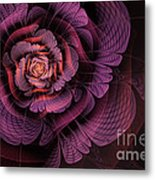 Fleur Pourpre Metal Print by John Edwards