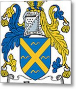 Fleury Coat Of Arms Irish Metal Print