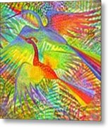 Flight Of Colour And Bliss Metal Print