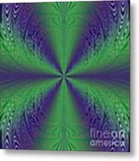 Flight Of Fancy Fractal In Green And Purple Metal Print