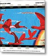 Flight Of Magical Gulls Anime Metal Print